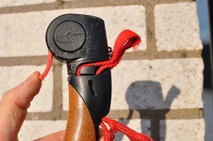 Bromsa på rullskidor Rollersafe reglage för skivbroms