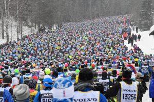 Vasaloppet 2018. Starten. Foto: Vasaloppet.